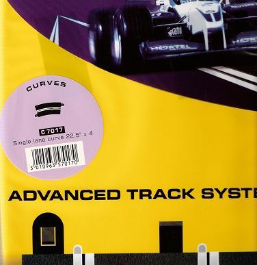 Scalextric - Singelkurva digital 22,5 grader (Radie3) - 4-pack