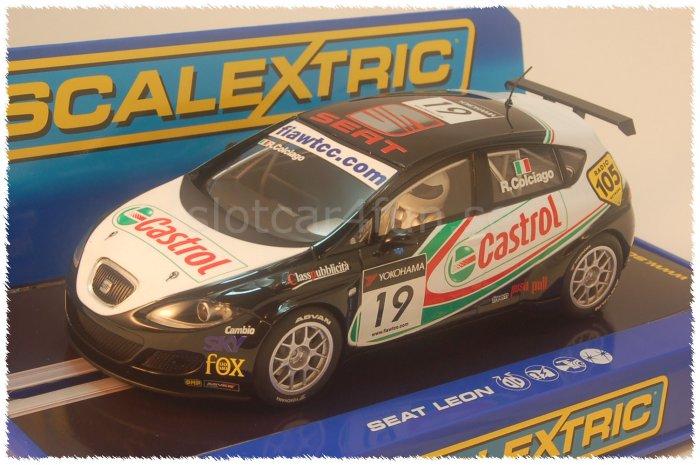 "Scalextric - Seat Leon - Roberto Colciago ""Castrol"""