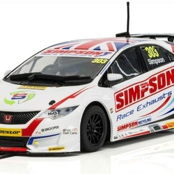 Scalextric - Honda Civic Type R NGTC – BTCC 2017 Matt Simpson