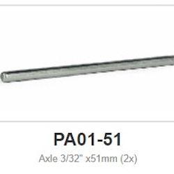 """Slot.it - Axle 51 mm - 2,38mm - 3/32"""" (x2)"""