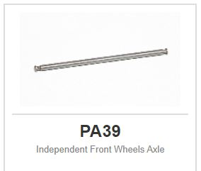 "Slot.it - Indipendent Front Wheels Axle - 2,38mm - 3/32"" (x2)"