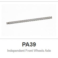 """Slot.it - Indipendent Front Wheels Axle - 2,38mm - 3/32"""" (x2)"""