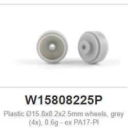 Slot.it -  Wheels plastic - Ø15.8x8.2x2.5mm - 0,6g (x4)