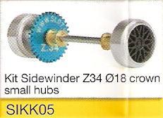 Slot.it - Starter Kit 05 - Sidewinder Z34 Ø18, 15.8x8.2mm wheels