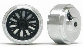 Slot.it - Wheels Aluminium 17 x 8 mm, M2 grub screw - 1,6g (x2)