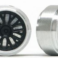 Slot.it - Wheels Aluminium 17 x 8 mm, M2 grub screw - 1,6g (x2)