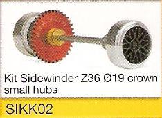 Slot.it - Starter Kit 02 - Sidewinder Z36 Ø19, 15.8x8.2mm wheels