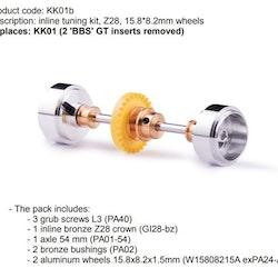 Slot.it - Inline tuning kit, Z28, 15.8*8.2mm wheels
