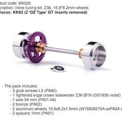 Slot.it -  Sidewinder tuning kit, Z36, 15.8*8.2mm wheels