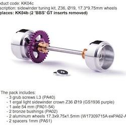 Slot.it - Sidewinder tuning kit, Z36, Ø19, 17.3*9.75mm wheels