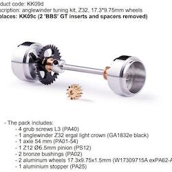 Slot.it - Anglewinder tuning kit, Z32, 17.3*9.75mm wheels