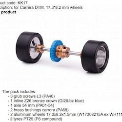 Slot.it - For Carrera DTM, 17.3*8.2 mm wheels