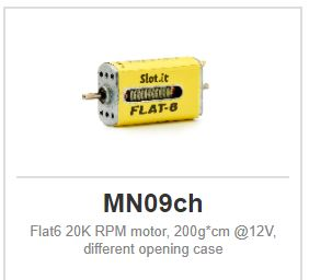 Slot.it - Flat6 20K RPM motor, 200g*cm @12V