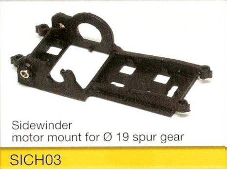 Slot.it - Motor mount - Siderwinder 1 - use with large hubs