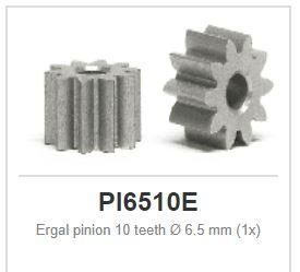 Slot.it - Ergal pinion - sidewinder - 10 teeth Ø 6.5 mm (1x)