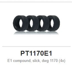 Slot.it - E1 compound, slick, dwg 1170 (4x)