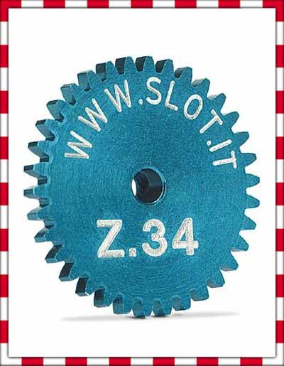 Slot.it - Sidewinder crown gear 34t, diameter 18 mm