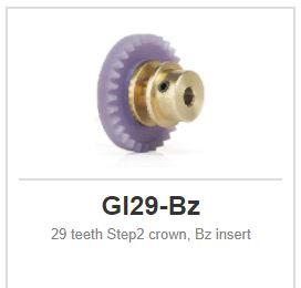 Slot.it - Inline - 29 teeth Step2 crown, Bz insert