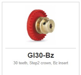 Slot.it - Inline - 30 teeth Step2 crown, Bz insert