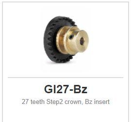 Slot.it - Inline - 27 teeth Step2 crown, Bz insert