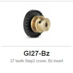 Slot.it - Inline - 27 teeth Step2 crown, Bz insert
