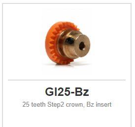 Slot.it - Inline - 25 teeth Step2 crown, Bz insert
