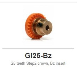 Slot.it - Inline - 25 teeth Step2 crown, Bz insert