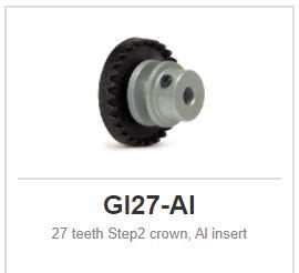 Slot.it - Inline - 27 teeth Step2 crown, Al insert