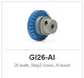 Slot.it - Inline - 26 teeth Step2 crown, Al insert