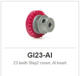 Slot.it - Inline - 23 teeth Step2 crown, Al insert