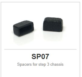 Slot.it - Spacers for step 3 chassis (x8)