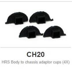 Slot.it - HRS Body to chassis adaptor cups (4X)