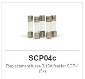 Slot.it - Replacement fuses 3,15A fast for SCP-1 (5x)