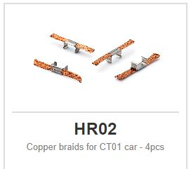Policar - Copper braids for CT01 car - 4pcs