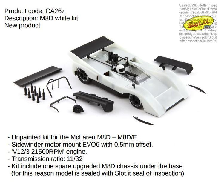Slot.it - McLaren M8D  M8D/E - white kit