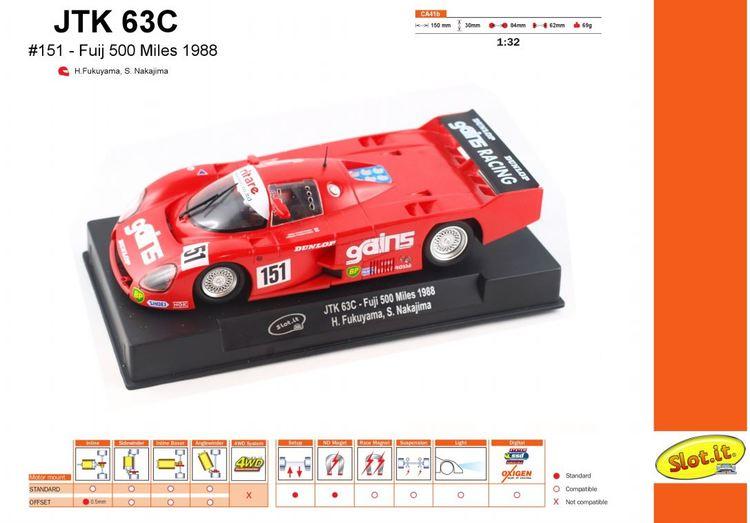 Slot.it - JTK  63C - Fuji 500 Miles 1988