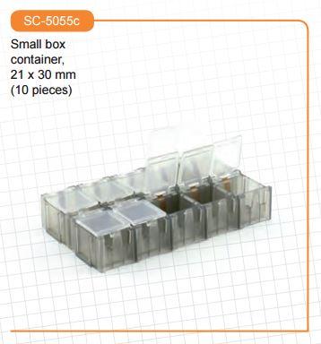 Scaleauto - Small box container, 21 x 30 mm (10 small compartments)