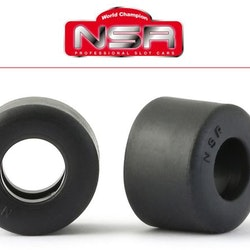 NSR - SPECIAL RTR SLICK REAR LOW PROFILE - 19.5 X 13.5 - FORMULA NSR - RACING TYRES - BLACK  (x4)