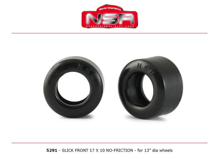 NSR - SLICK FRONT 17 X 10 NO-FRICTION (x4)