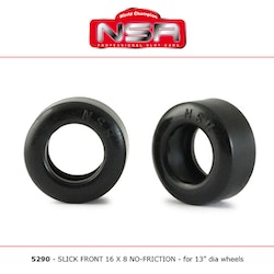 NSR - SLICK FRONT 16 X 8 NO-FRICTION (x4)