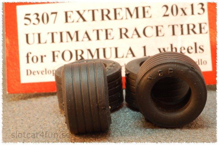 NSR - FORMULA 1 EXTREME 20 x 13 FORMULA 1 EXTREME 20 x 13 for 5005 or Ninco F.1 wheels (x4)