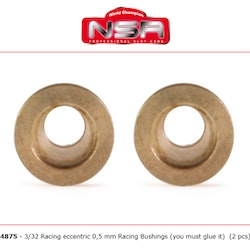 NSR - Racing Eccentric Bushings - 0,5 mm - 3/32 autolubricant & no friction (2x)