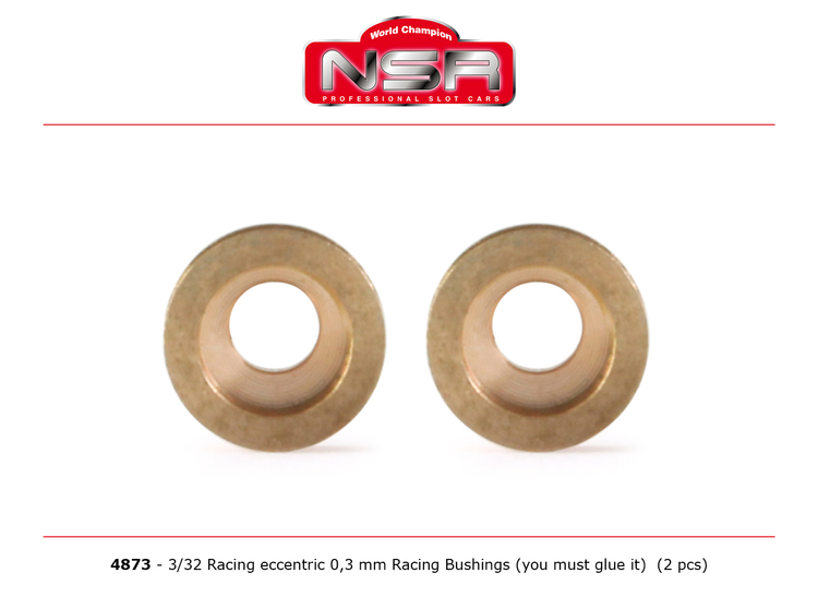 NSR - Racing Eccentric Bushings - 0,3 mm - 3/32 autolubricant & no friction (x2)