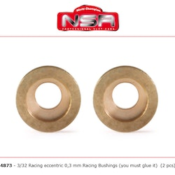 NSR - Racing Eccentric Bushings - 0,3 mm - 3/32 autolubricant & no friction (x2)