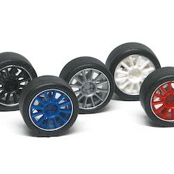 NSR - Set insert 12 spokes - For Ø 17 wheels RED