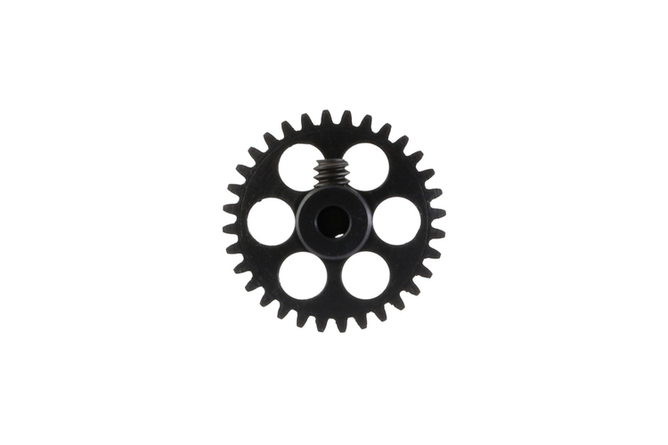 NSR - 3/32 Aluminium Gear - 32 Teeth Ø 17,5mm - Sidewinder - BLACK