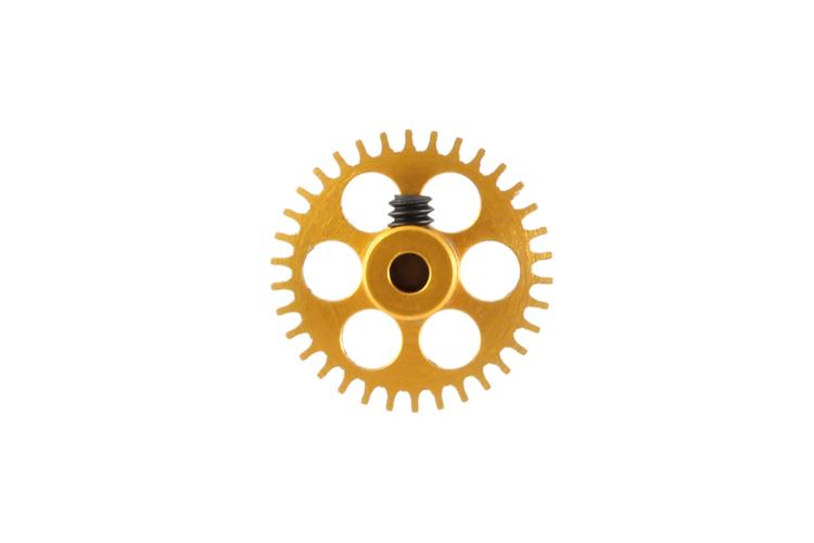 NSR - 3/32 Aluminium Gear - 34 Teeth Ø 17,5mm - Sidewinder - GOLD