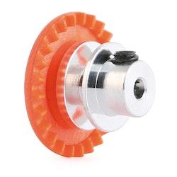 """NSR - 3/32 INLINE soft plastic Gear 25t Orange w/aluminium hub .050"""" screw"""