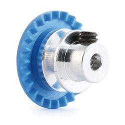 """NSR - 3/32 INLINE soft plastic Gear 24t Blue w/aluminium hub .050"""" screw"""