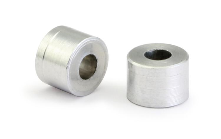 """NSR - Aluminium Spacers - 3/32"""" axle aluminium spacers Code: 4840 - 0,160"""" / 4 mm. (10 pcs)"""
